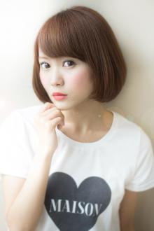 大人可愛い小顔ボブパーマ 458【2013 秋 冬】【髪型 ヘアカタログ】【カジュアル 縮毛矯正】|AFLOAT JAPANのヘアスタイル