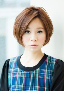 自然なボリューム!ショートパーマヘア|AFLOAT JAPANのヘアスタイル