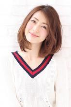 大人愛されミディアム☆ナチュラル巻き髪 |XELHA 芝本 渉のヘアスタイル