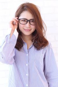 メガネにも似合う☆ナチュラルパーマ