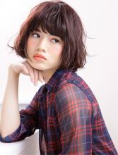彩度チェンジでツヤと深みを出した小顔効果のキュートなボブ|AFLOAT JAPANのヘアスタイル