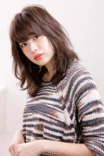 しっとり髪質改善を思わせるベージュ系の透明感カラー|AFLOAT JAPANのヘアスタイル