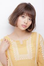 柔らかい丸みの質感カールが可愛い毛先内巻きのシフォンボブ|AFLOAT JAPANのヘアスタイル