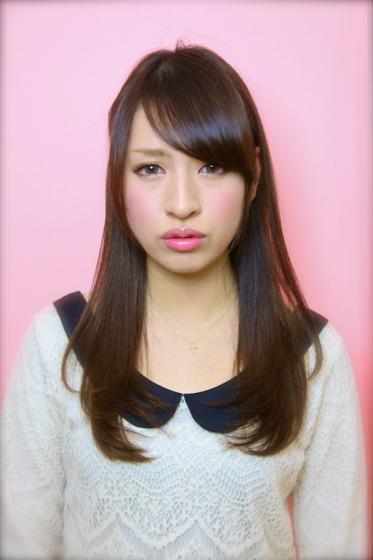 2012冬黒髪パーマ小顔髪型 ...