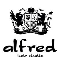 緑地公園 美容室 『alfred hair studio』 | らしさ限定クーポンはこちら★ (江坂・千里山・緑地公園の美容室 美容院) のロゴ