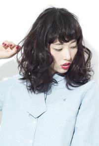 黒髪モードミックスパーマ