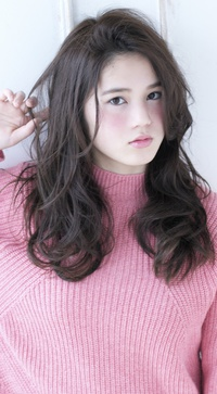 外国人風 前髪かきあげロングA177