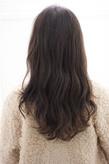黒髪風な大きめカールのロングs-311