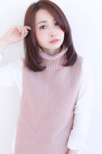 ベリーピンクカラーのひし形ミディ【H-356】