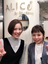 担当松盛☆お客様スタイル☆ショートボブ【y−111】|ALICe by afloatのヘアスタイル
