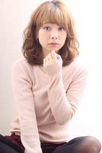 フェミニンデジタルパーマ☆小顔ミディ