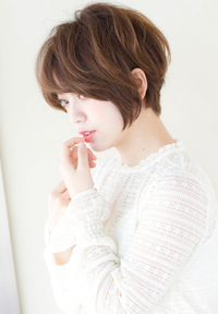 【担当 添田】上品なカット☆大人可愛いひし形ショートs-351