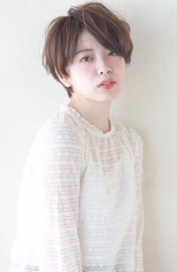 お手入れ楽ちんショートボブ【ラベンダーベージュ】U-4