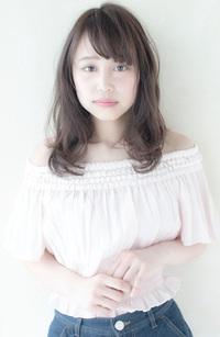ラフなガーリーミディアム【ミルクティーグレージュ】U-10