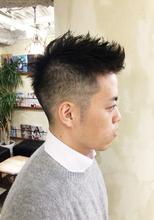 外国人風刈り上げ お客様メンズスタイル【N-573】 ALICe by afloatのメンズヘアスタイル
