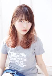 グラデーションカラーカジュアルピンクセミディ【N-591】