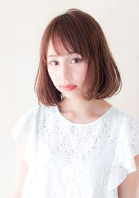 透明感抜群フェザーボブ【ピンクグレージュ】U-41