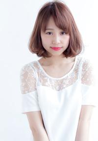 大人かわいいノームコアボブ【ピンクアッシュベージュ】U-43
