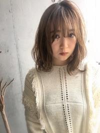 大人ひし形小顔ミディ 柔らかパーマ【y−113】