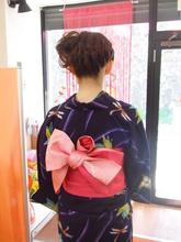 編みこんでみました♪|ヘアー アンド メイク アロマ (美容室アロマ) 都立大学駅前店のヘアスタイル