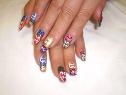 アジアンネイル|Hair&nail h Blancheのネイル