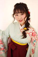 袴の着付とヘアセット|B2C梅田のヘアスタイル