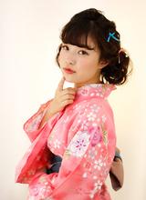 浴衣ヘアアレンジ B2C梅田のヘアスタイル