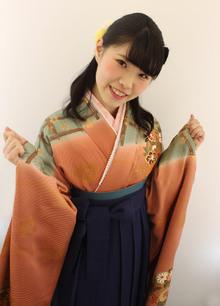 卒業式・袴着付けハーフアップ