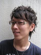 2ブロックくるくるパーマ|Buzz salon for hair    〜素材(髪)を大切に〜のメンズヘアスタイル