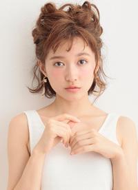 可愛い子ネコのようなシルエット☆猫耳風三つ編みアップアレンジ