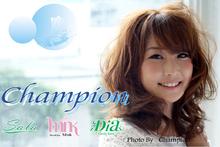 美容室 champion  | ビヨウシツ チャンピオン   のロゴ