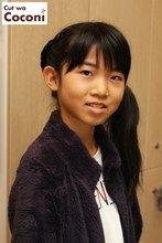 かわいいお子様カット〜めっちゃ、いい表情ですね!お気に入りのピンでアレンジさせて頂きました!!!|Cut wa Coconi (交野市美容室・美容院)のヘアスタイル