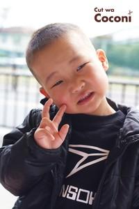 かわいいお子様カット〜一生懸命の笑顔が、素敵なクリクリな男の子!!!