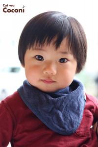 かわいいお子様カット!前髪いい感じ〜かわいい男の子です!!!