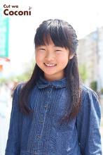 かわいいお子様カット!サラサラヘア〜サイド編みこみ☆|Cut wa Coconi (交野市美容室・美容院)のキッズヘアスタイル