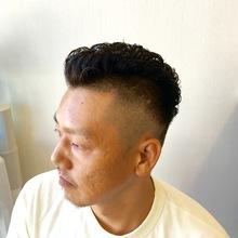 0,8mm〜 フェードスタイル & パーマ|CUT HOME SUGINOのヘアスタイル