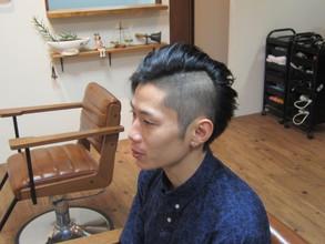2ブロックのアシンメトリー|eternity hairのメンズヘアスタイル