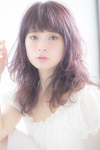 【Euphoria】カラーで軽さコラージュ☆儚げアンニュイふわミディ