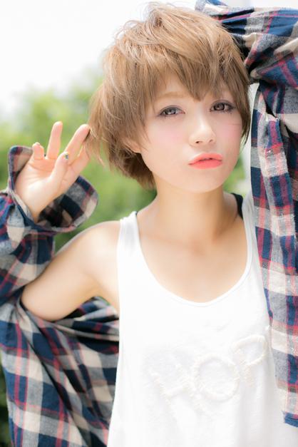 暑い日差しもフローズン☆少年風ウェットショート | 新宿の美容室 Euphoria【ユーフォリア】新宿通りのヘアスタイル