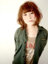 重なりあうカールが軽やかなルーセントボブ!!!|FAIR LADY 下北沢のヘアスタイル