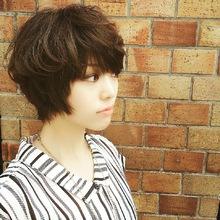 女の子らしいナチュラルショートスタイル|GARCONs FEMMEのヘアスタイル
