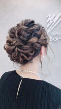 キュートな編み込みとプロの着付けで夏のイベントを楽しんで|サロン・ド・ヒロインのヘアスタイル