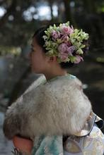生花髪飾|hair stage O2 紫野店のヘアスタイル