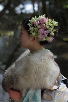 生花髪飾 hair stage O2 紫野店のヘアスタイル