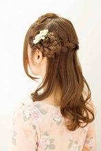 Half UP ☆編み込みコサージュ|SIECLE hair&spa 渋谷店のヘアスタイル