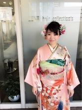 成人式まとめ髪お花アレンジアップスタイル!!|KENJI hair collection's 西宮店のヘアスタイル