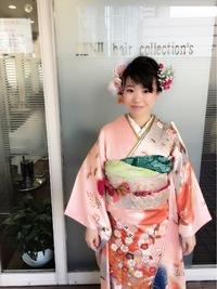 成人式まとめ髪お花アレンジアップスタイル!!