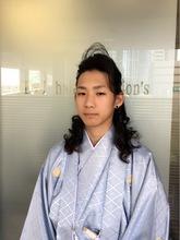 成人式メンズまとめ髪!!|KENJI hair collection's 西宮店のメンズヘアスタイル