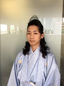 成人式メンズまとめ髪!!