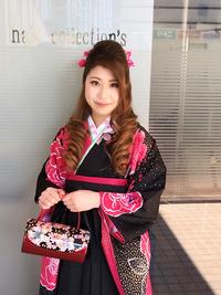 卒業式ハーフアップ!生花を使った毛先カールスタイル!!